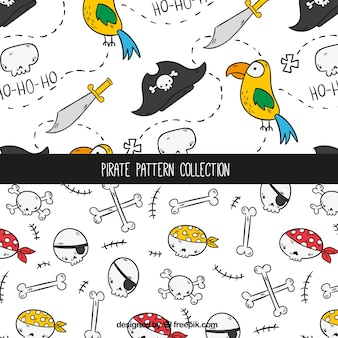 Handgezeichnete Piratenmuster