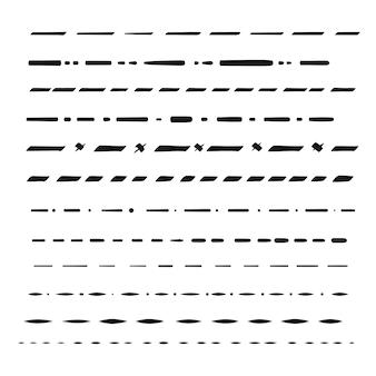 Handgezeichnete vektorteiler