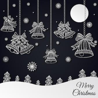 Handgezeichnete Weihnachten Hintergrund