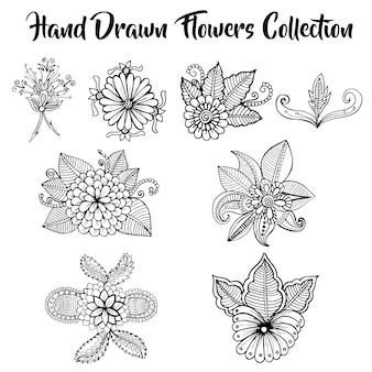 Handgezeichneten Blumensammlung