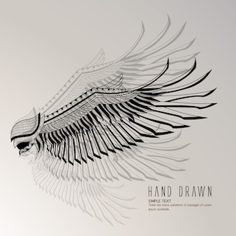 Handgezeichneter Adler