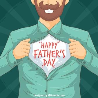 Handgezeichneter Vatertag Hintergrund