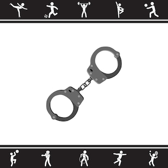 Handschellen. Vektor-Illustration