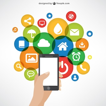 Handy mit App-Symbole