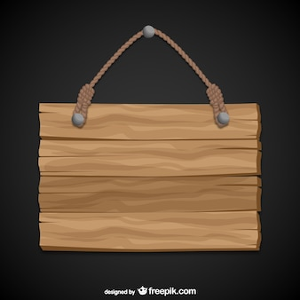 Hängende Holzschild
