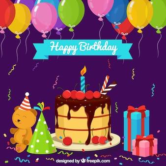 Happy Birthday Hintergrund mit Geschenken