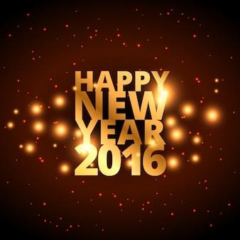 Happy new year in goldenen Stil