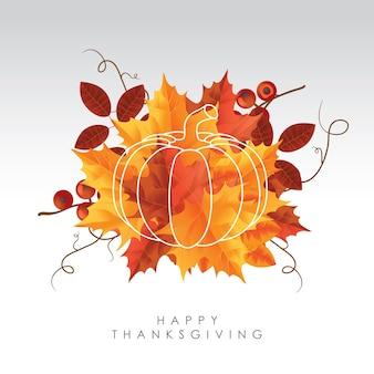 Happy Thanksgiving Hintergrund Thema