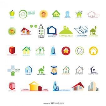 Haus Gehäuse Grafiken Vektor-Material