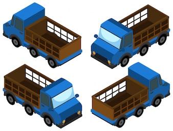 Heben Sie den LKW in blauer Farbe auf