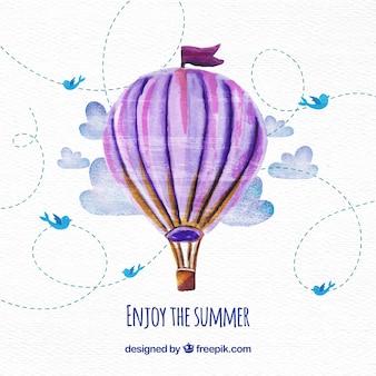 Heißluftballon Hintergrund