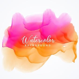 Heller rosa und orange Aquarellflecken-Hintergrundentwurf