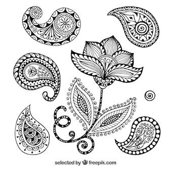 Henna-Ornamente