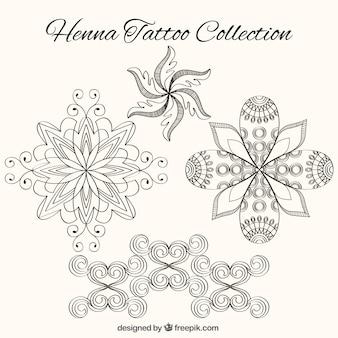 Henna-Tattoos, floralen Formen
