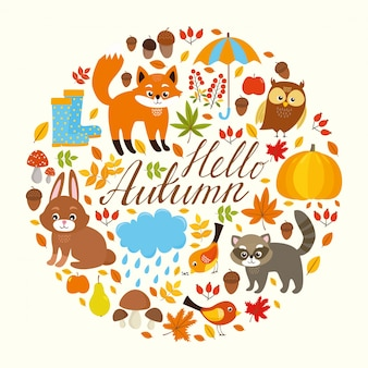 Herbst-Hintergrund-Design