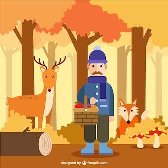 Herbst in den Wald