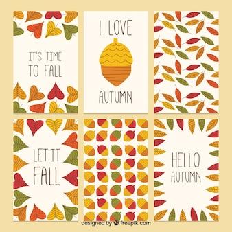 Herbstliche Jahreszeit Kartensammlung