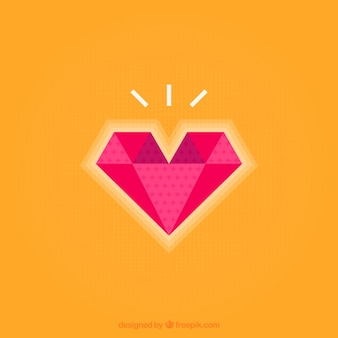 Herz mit Diamanten Form Hintergrund
