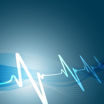 Herz schlägt Vektor-Illustration