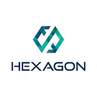 Hexagon Abstraktes Logo