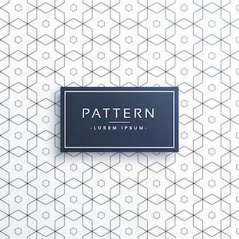 Hexagonale geometrische Linienmuster Hintergrund