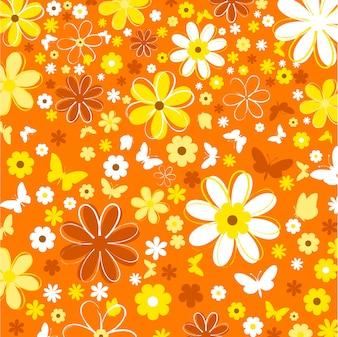 Hintergrund der Blumen und Schmetterlinge