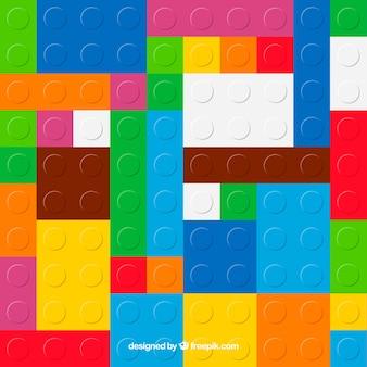 Hintergrund der farbigen Stücke