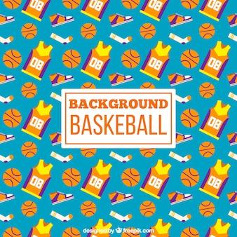 Hintergrund der flachen Basketball Elemente