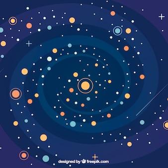 Hintergrund der Galaxie und Spirale