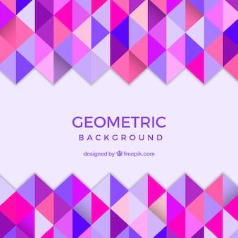 Hintergrund der geometrischen Formen in flachem Design