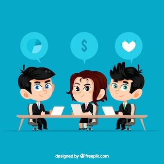Hintergrund der Geschäftsleute in einem Treffen