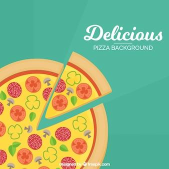 Hintergrund der leckeren Pizza