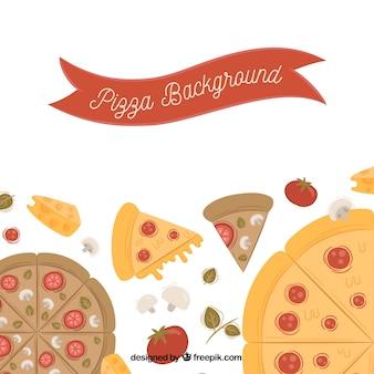 Hintergrund der leckeren Pizzas