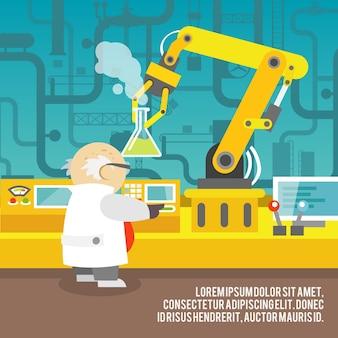 Hintergrund der Roboterarm