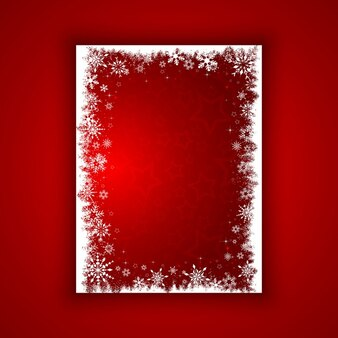 Hintergrund der Schneeflocken und Sternen
