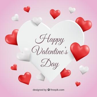 Hintergrund der valentine Herzen