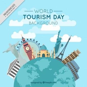 Hintergrund der Welt und internationalen Denkmäler