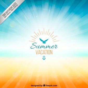 Hintergrund für Sommerurlaub