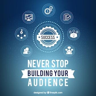 Hintergrund mit Business-Strategie für den Erfolg