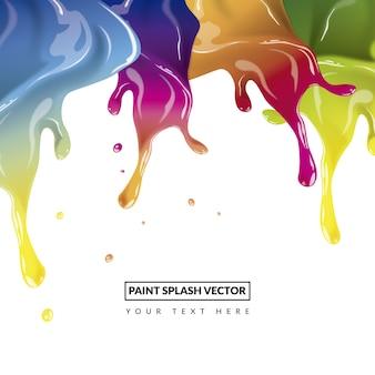 Hintergrund mit Farbe spritzt Design