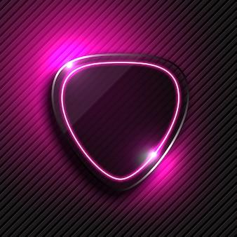 Hintergrund mit Neonlicht Design