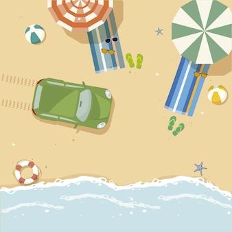 Hintergrund mit Strand desig