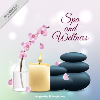Hintergrund mit Wellness-Elemente