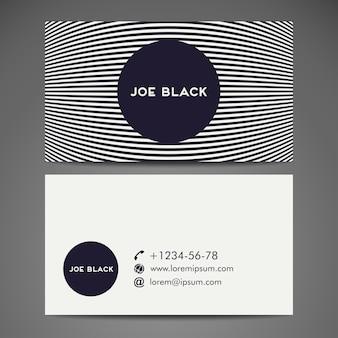Hintergrund Vektor abstrakte kreative Visitenkarte Vorlage