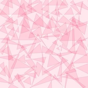 Hintergrundvorlage mit rosa Dreiecksformen