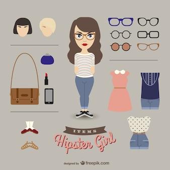 Hipster-Mädchen verkleiden sich Mädchen