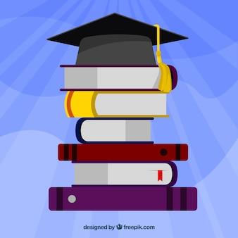 Hochschulabschluss mit flachem Design