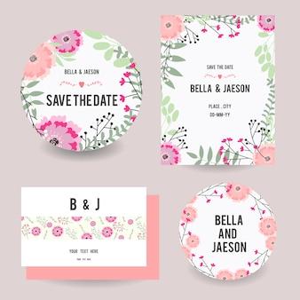 Hochzeit Briefpapier Design