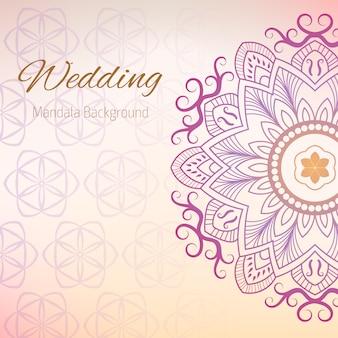 Hochzeit Hintergrund mit Mandala-Design