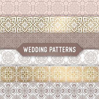 Hochzeit nahtlose Muster Zusammenfassung ornamentalen Muster